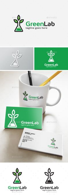 Green Lab Logo Template Transparent PNG, Vector EPS, AI Illustrator #logotype Download here: http://graphicriver.net/item/green-lab-logo/14112651?ref=ksioks