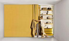 Lago.it series Et Voilà great idea - wardrobe with curtain see also http://youtu.be/_e_vecn11hI