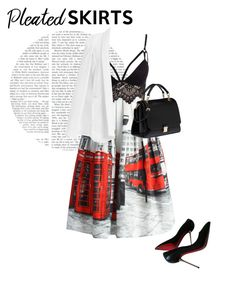 How To Wear Pleated Skirts Outfit Idea 2017 - Fashion Trends Ready To Wear For Plus Size, Curvy Women Over 50 Fashion 2017, Fashion Outfits, Fashion Trends, Pleated Skirts, Polyvore Fashion, Skirt Set, What To Wear, Ready To Wear, Cute Outfits