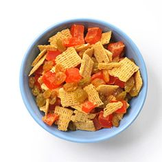 Healthy School Lunches & Snacks: After-School Snack Mixes: Cereal, chocolate chips and pumpkin seed