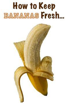 Kitchen Tip: How to Keep Bananas Fresh at TheFrugalG cooking tips guide Keep Bananas Fresh, Banana Coconut, Banana Milk, Baked Banana, Banana Pudding, Food Facts, Baking Tips, Baking Hacks, Fruit Recipes