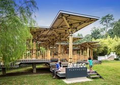Look  at this amazing playhouse from Kuala Lumpur, Malaysia  built entirely from bamboo which serves as playground for kids. This is another example of how bamboo can revolutionise the building industry and provide an alternative to the monopoly of reinforced concrete.