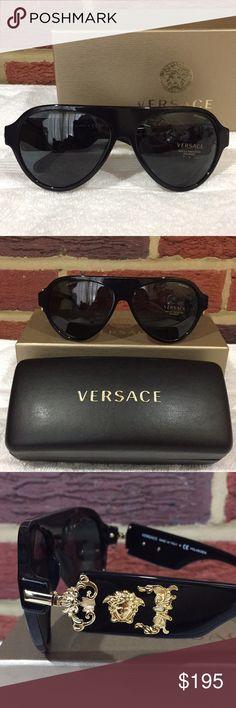 abf5c9a415d3 Sunglasses · Versace Pilot Rock Icons Black W  Gold Details NWT NWT Versace  Pilot Rock Icons Black