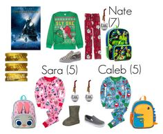"""""""Polar Express Day at school! ~Johnson Family"""" by annarice ❤ liked on Polyvore featuring Hatley, Nickelodeon, Rockland Luggage, Disney, UGG Australia, Circo, Hallmark and johnsonfam98"""