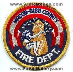 Macon Bibb County Fire Department Dept FD Rescue EMS Patch Georgia GA OLD Stars