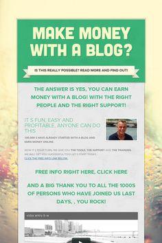 MAKE MONEY WITH A BLOG?