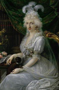 Luisa Maria Amelia Teresa of Naples and Sicily, Princess of Naples and Sicily (1773-1802), Grand Duchess Consort of Tuscany, wife of Archduke Ferdinand III of Tuscany -  Joseph Dorffmeister 1797