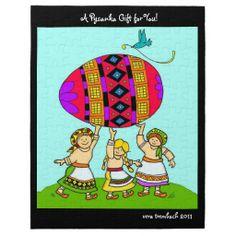 A Pysanka Gift for You Ukrainian Folk Art Jigsaw #Puzzles   #ukrainian #ukrainiangifts #Gifts http://www.zazzle.com/ctek101*