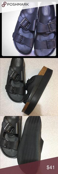 Shoes Top shop new black confiable sandals never worn for them at Nordstrom still in the box top shop Shoes Flats & Loafers