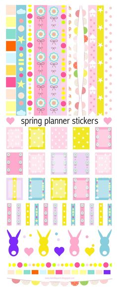Free printable planner stickers and borders