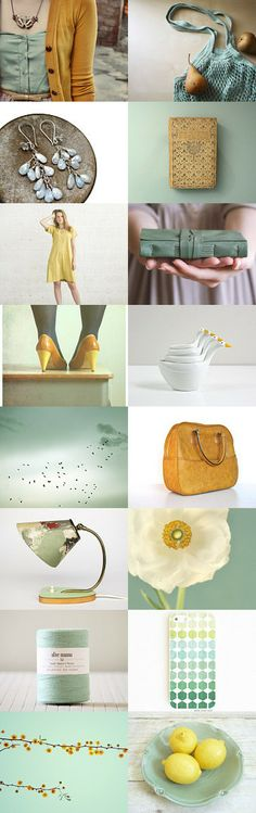 Love this color combo! Sunny day by katerinaRam on Etsy--Pinned with TreasuryPin.com