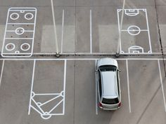 Parking floor graphics at Finnish Sports Federation by Bond Agency Environmental Graphic Design, Environmental Graphics, Parking Design, Signage Design, Architecture Logo, Landscape Architecture, Floor Graphics, Office Branding, Wayfinding Signage