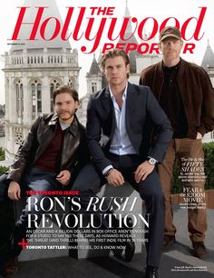 RUSH by Ron Howard, with Chris Hemsworth and Daniel Bruhl, in The Hollywood Reporter