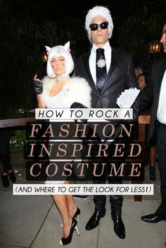 See how to create and wear a fashion inspired costume like Karl Lagerfeld