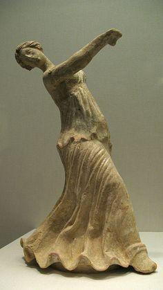 Figurine of a Dancing Woman. Sicilian, Centuripe, 2nd century B.C.