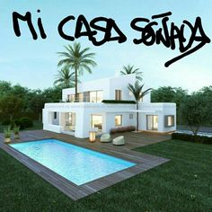 Modern Villas for sale Casas Containers, Backyard Pool Designs, Modern House Design, Exterior Design, Future House, Luxury Homes, Beautiful Homes, Building A House, Architecture Design