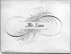 Calligraphic Flourish | Flourishing with Pointed Pen Example