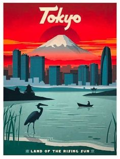 The Travel Tester vintage travel poster collection. It's time to get nostalgic with this week's retro showcase: Vintage Travel Posters Japan. Retro Poster, Art Deco Posters, Cool Posters, Vintage Travel Posters, Vintage Ski, Vintage Pink, Image Japon, Anime Pokemon, City Poster