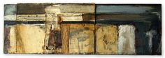 """""""I Was Afraid and so I Hid"""" Triptych Panel 1 2013 Collage, oil paint, charcoal, graphite 18"""" x 6"""" $650"""