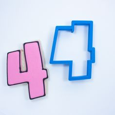 Number Four Cookie Cutter - Frosted.co