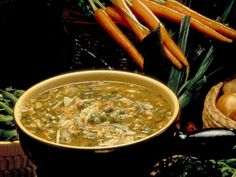 Garden Vegetable Soup Recipe  Delicious soup. Must use leeks for flavor. Alton Brown : Food Network - FoodNetwork.com