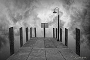 """Dock and Clouds"" http://1-david-gordon.artistwebsites.com/featured/dock-and-clouds-dave-gordon.html #printsforsale #blackandwhite #photomontage #davegordon #clouds #docks"