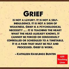 Grief is work