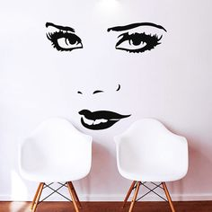 Makeup Wall Decal Vinyl Sticker Decals Home Decor Mural Make Up Girl Eyes Woman Fashion Cosmetic Hairdressing Hair Beauty Salon Decor Beauty Salon Decor, Hair And Beauty Salon, Makeup Studio, Hair Dressing, Dressing Room, Up Girl, Vinyl Wall Decals, Girls Eyes, Hairdresser