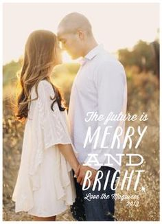 """Newlywed Christmas card - """"The Future is Merry and Bright"""""""