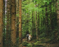 A Romantic Elopement in the Woods: Laura + Nick | Green Wedding Shoes Wedding Blog | Wedding Trends for Stylish + Creative Brides