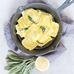 Ravioli met salie en citroen