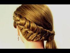 """Прическа на каждый день. Плетение """"Венок"""". Hairstyle for every day"""