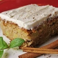 Apple spice cake. Made October 2015 for dinner with Josh and Jodie