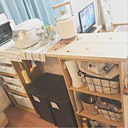 Kitchen,ナチュラル,IKEA,カラーボックス,DIY,キッチンカウンターに関連する他の写真