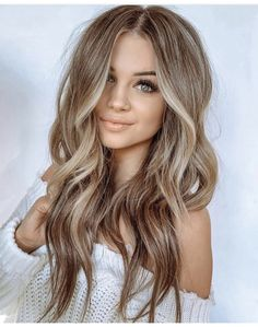 Brunette To Blonde Balayage Using Babylights – Brünette bis blond balayage using babylights This. Ombre Hair Color, Hair Color Balayage, Brown Hair Colors, Balayage Hairstyle, Blonde Color, Babylights Blonde, Hair Colours, In Style Hair Colors, Best Hair Color