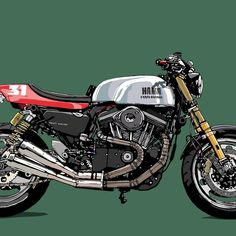 Motorcycle Posters, Cafe Racer Motorcycle, Motorcycle Style, Buell Cafe Racer, Manchester United Wallpaper, Bike Drawing, Cafe Racer Magazine, Bike Illustration, Harley Bobber
