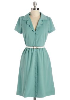 Myrtlewood Literary Connoisseur Dress. Your bookshelves house a collection of your most cherished literary works, each as meritable and unique as this rich seafoam dress from Myrtlewood - a ModCloth exclusive! #mint #modcloth
