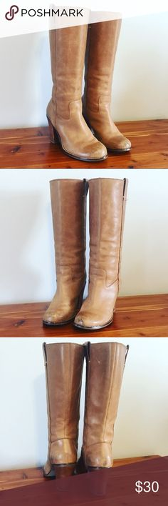 Lucky Brand boots Leather Lucky Brand boots. Size 7. Light brown color. Lucky Brand Shoes Heeled Boots