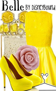 """""""Belle"""" from Beauty & the Beast by DisneyBound."""