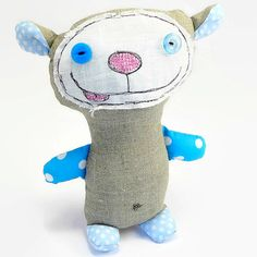 Monkey Toy Happy Monkey Stuffed Animal by MiaPuPe on Etsy