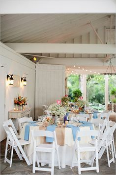light blue table decor ideas