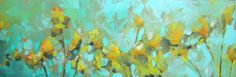 artist jill van sickle  artwork, painting, floral, abstract, teal
