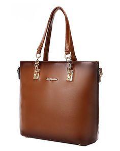 Coofit Frauen Geldbörsen Handtaschen Damen Crossbody Tasche Messenger Bag Tasche 6 Sets (Large, Oil Wax Light Brown): Amazon.de: Bekleidung
