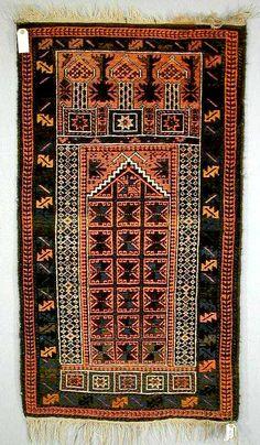 Antique Baluch Rugs: Baluch Prayer Rug Sistan C. 1930-50 Lot 468