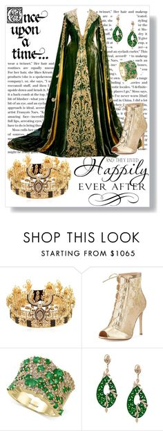 """""""Fit for a Queen: Fairy Tale"""" by xoxolua ❤ liked on Polyvore featuring Once Upon a Time, Vittorio Ceccoli, Gianvito Rossi, Effy Jewelry and Gemco"""