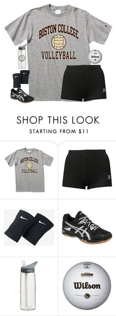 """Volleyball tryouts!//rtd"" by sweettoothegj ❤ liked on Polyvore featuring Mizuno, NIKE, Asics, CamelBak and schooltimewithellie"