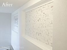 create-a-faux-brick-wall-using-spackle-after-by-sawdust-2-stitches Faux Brick Panels, Brick Paneling, Brick Walls, Woodworking Supplies, Woodworking Projects, Home Projects, Design Elements, Stitches, New Homes