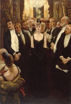 James Jacques Joseph Tissot - The Corsetted Beauty