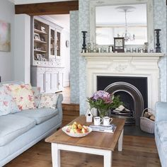 Living room fireplace | Impressive Victorian home in Surrey | | House tour | PHOTO GALLERY | Ideal Home | Housetohome.co.uk
