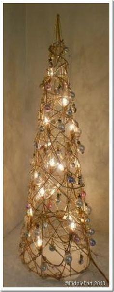 Dunelm Illuminated Christmas Tree, bejewelled christmas tree